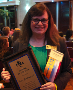 Pendergrast pictured with her award. Photo courtesy of Jane Pendergrast.