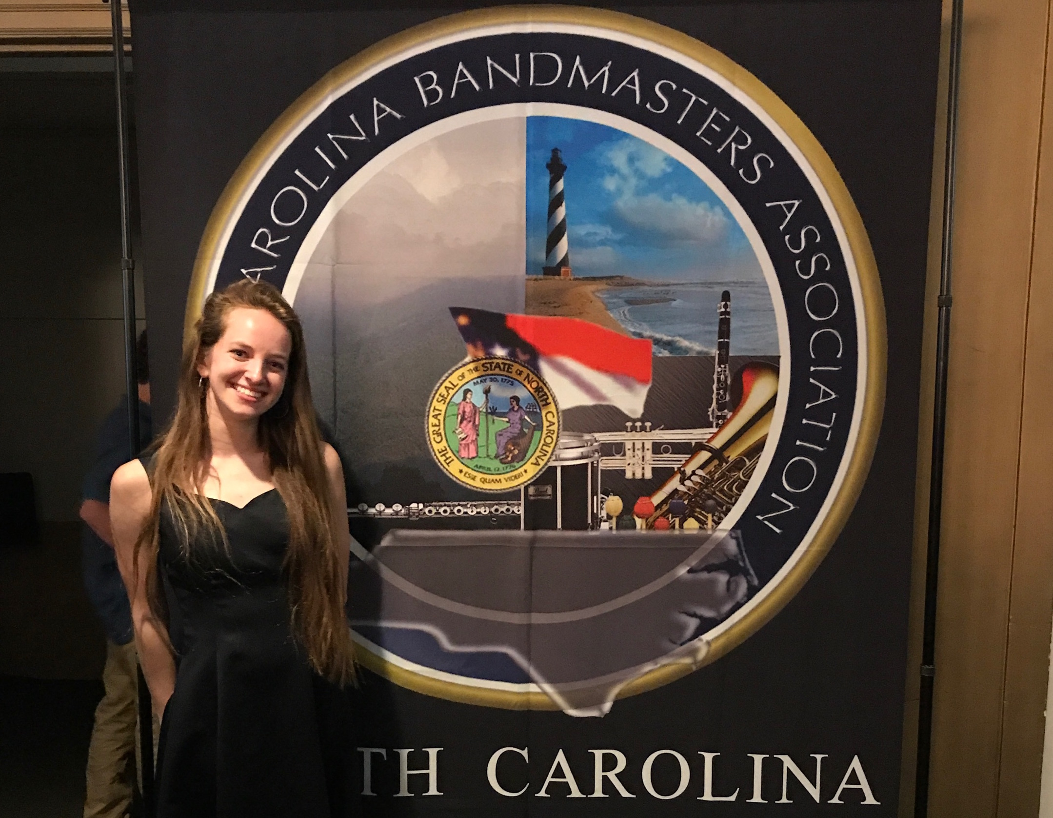 Mary Wardrop performs with North Carolina Honor Band